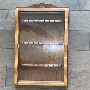 Beautiful Vintage Antique Wood Jewelry Case